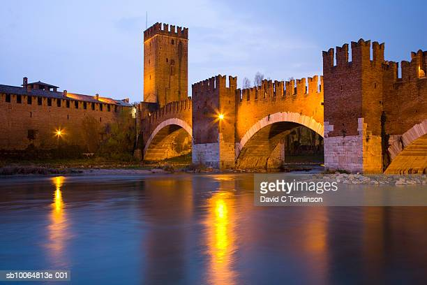 Ponte Scaligero and Castelvecchio at dusk