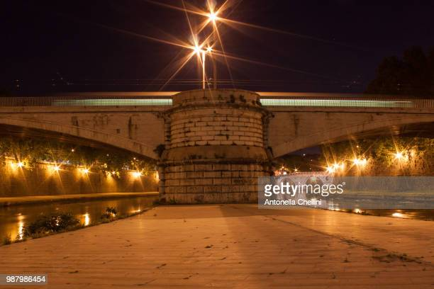 ponte sul tevere a roma - antonella stock photos and pictures