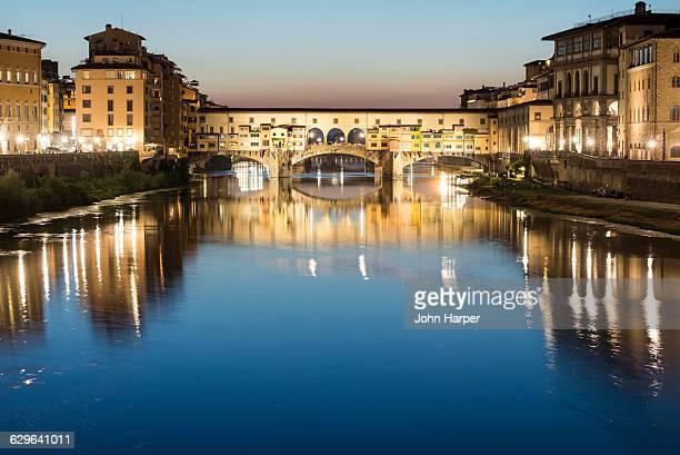 Ponte Vecchio at twilight, Florence, Italy