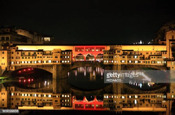 Ponte Vecchio bridge Florence Xmas Italy Europe