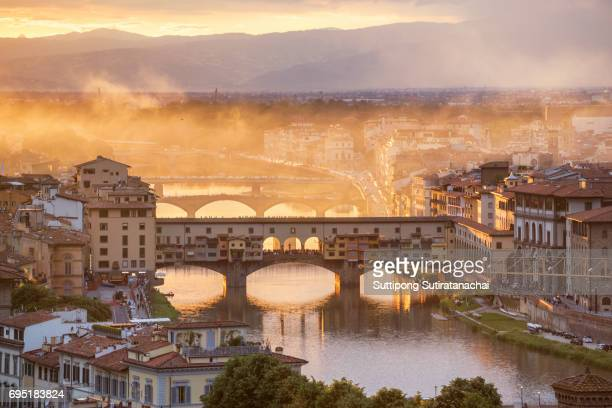Ponte Vecchio bridge in Florence, Italy. Europe