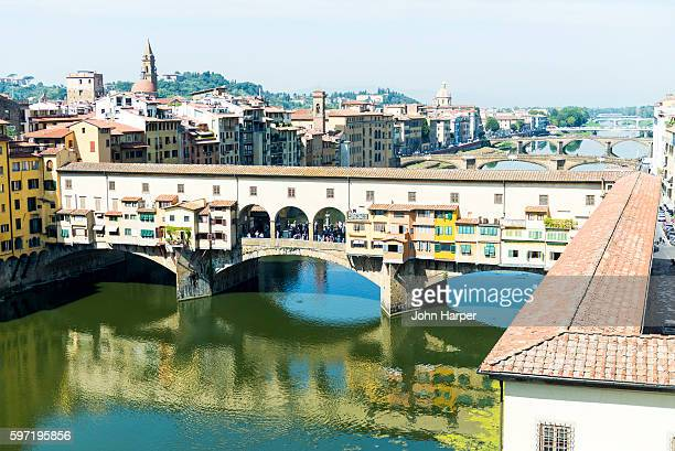 ponte vecchio, florence, italy - ponte vecchio stock photos and pictures