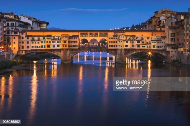 ponte vecchio, florence - ponte vecchio stock photos and pictures