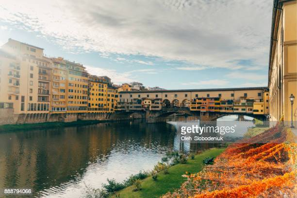 ponte vecchio  in florence, italy - ponte vecchio stock photos and pictures