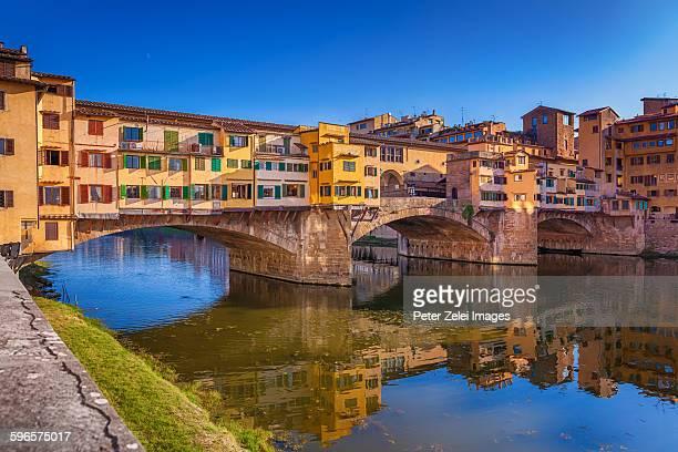 ponte vecchio in florence - ponte vecchio stock photos and pictures
