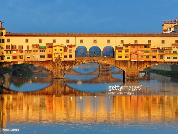 Ponte Vecchio in Florence, Tuscany, Italy at sunrise