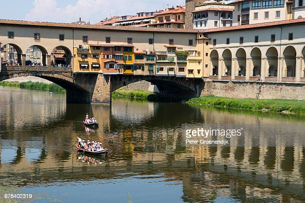 Ponte Vecchio over the River Arno, Florence, UNESCO World Heritage Site, Tuscany, Italy, Europe