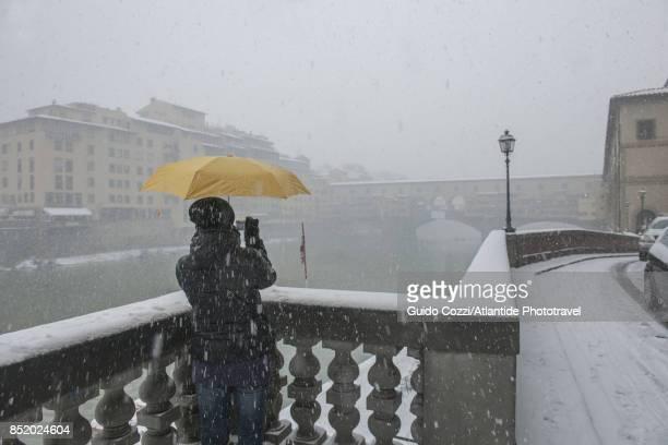 Ponte Vecchio under the snow