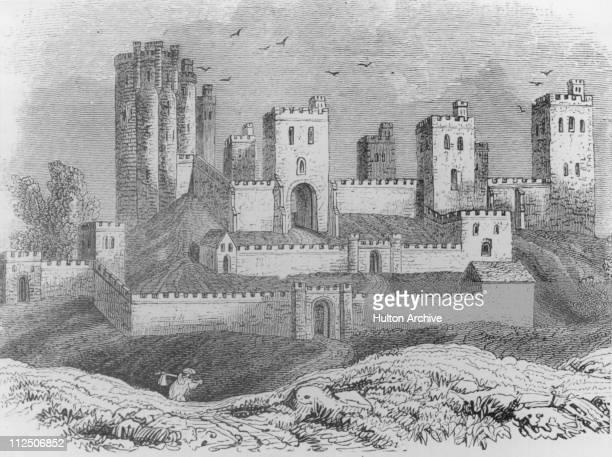 Pontefract Castle Yorkshire circa 1700