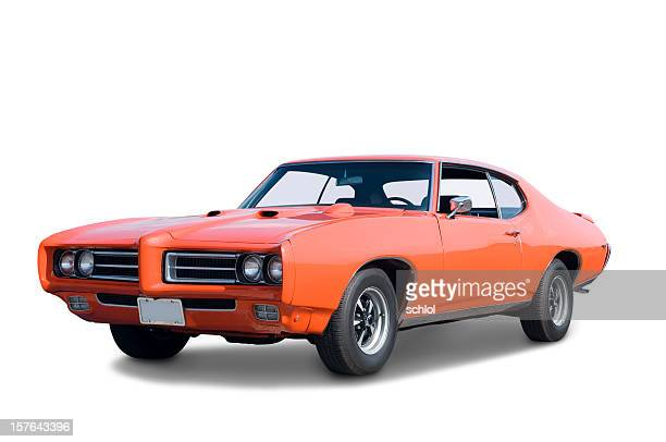 pontiac gto 1969 - vintage car stock pictures, royalty-free photos & images