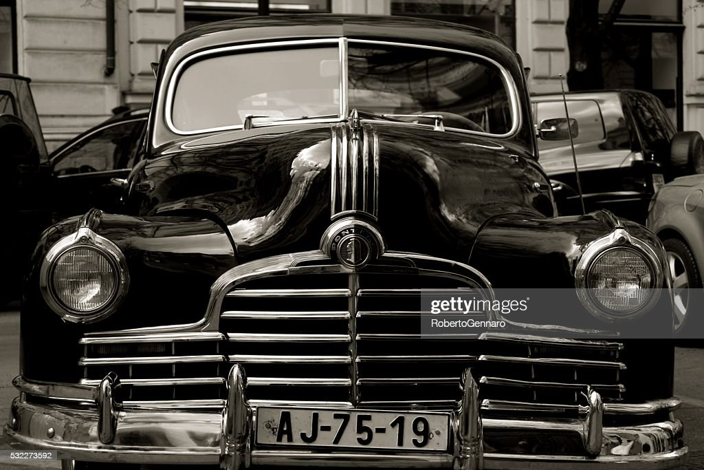 Pontiac Old Fashioned American Car Parked Stock Photo | Getty Images