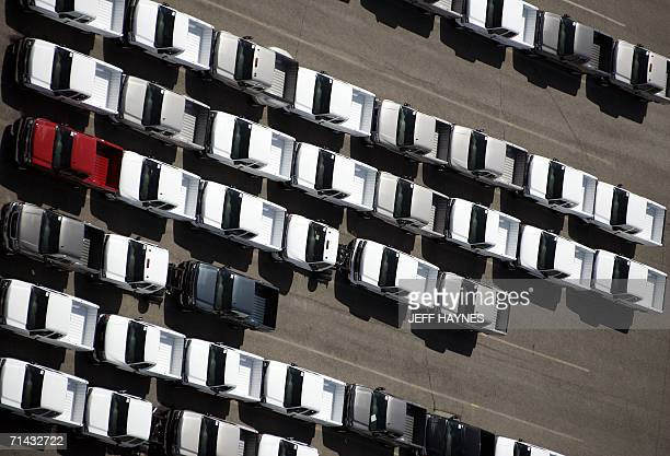 General Motors trucks are lined up for delivery at the Pontiac assembly plant 13 July in Pontiac Michigan The chief executive of Renault and Nissan...