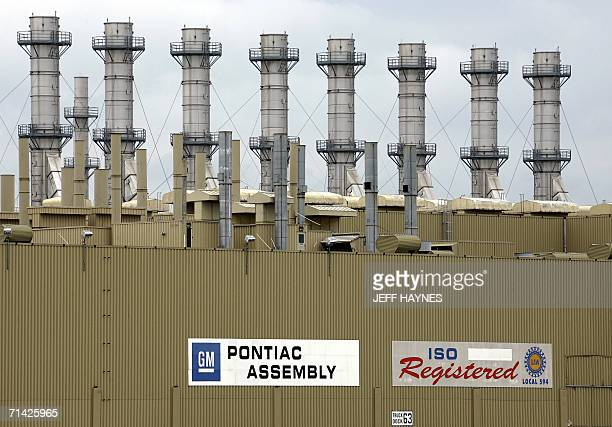 The General Motors Pontiac assembly plant is pictured 12 July 2006 in Pontiac Michigan Rick Wagoner the chief executive officer of General Motors...