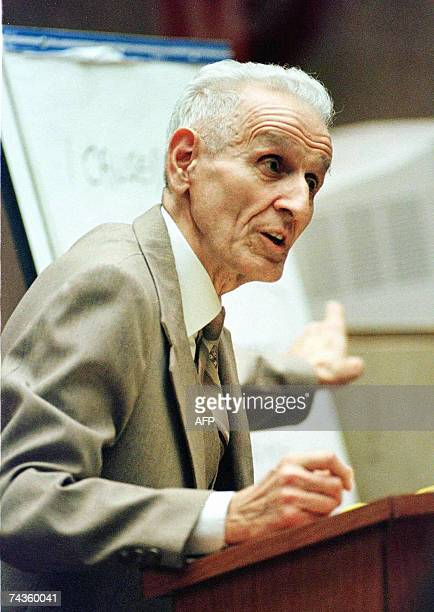 TO GO WITH STORY by Mira Oberman USpunishmenteuthanasia In this 22 March 1999 file photo assisted suicide advocate Dr Jack Kevorkian who is...