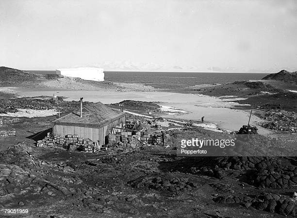 HG Ponting Captain Scotts Antarctic Expedition 1910 1912 17th February The hut of Irish explorer Ernest Shackleton during the expedition