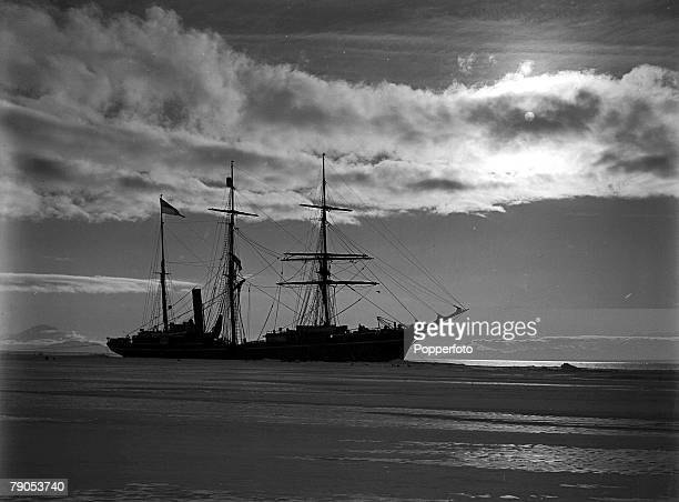 HG Ponting Captain Scotts Antarctic Expedition 1910 1912 January The Terra Nova ship at the icefoot off Cape Evans