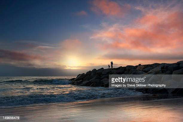 ponto jetty - carlsbad california stock pictures, royalty-free photos & images