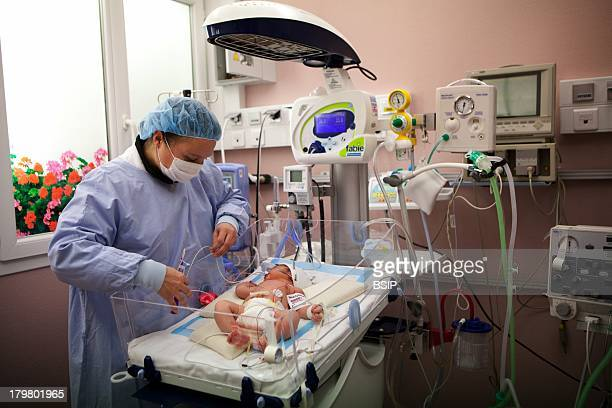 Pontoise hospital France Pediatric emergency newborn with breathing difficulties The EMS team intervenes then transfers child to another hospital...