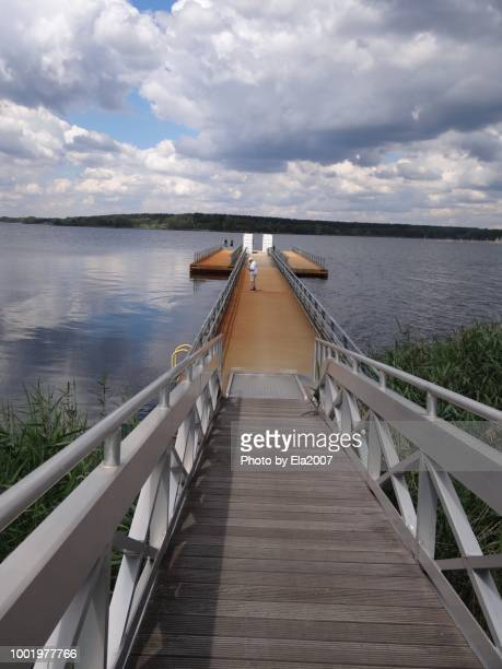 Pontoon dock at Sedlitzer See