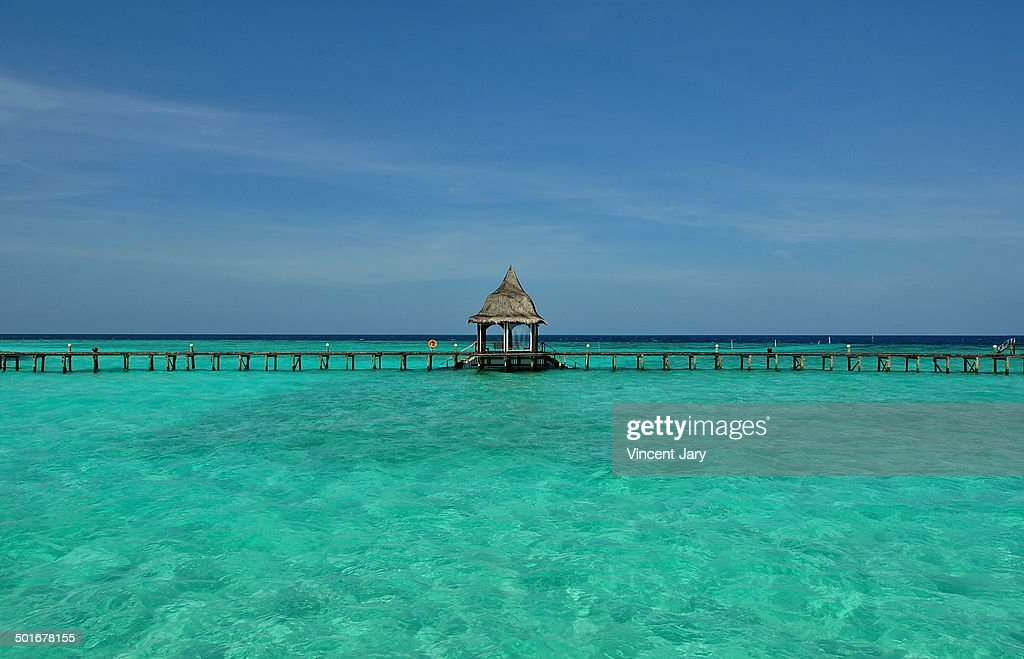 Pontoon Maldives : Foto stock