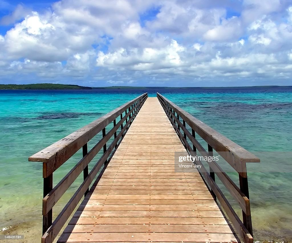 Pontoon new caledonia : Foto de stock