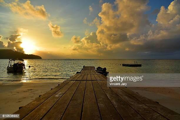 Pontoon sunrise Perhentian island Malaysia Asia