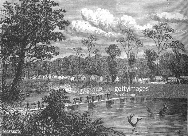 Pontoonbridge on the Prah' circa 1880 Episode of the Third AngloAshanti War From British Battles on Land and Sea Vol III by James Grant [Cassell...