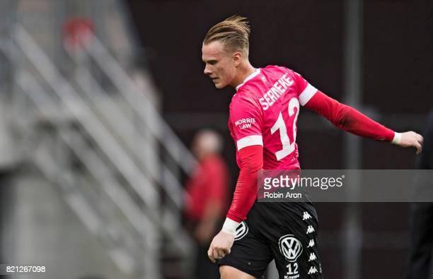 Pontus Dahlberg goalkeeper of IFK Goteborg dejected after the Allsvenskan match between IFK Goteborg and Orebro SK at Gamla Ullevi on July 23 2017 in...