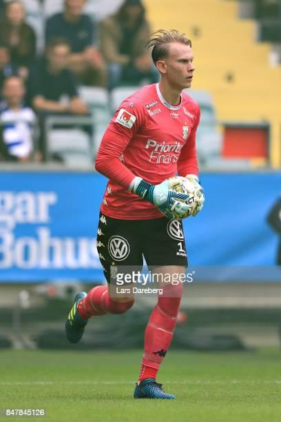 Pontus Dahlberg goalkeeper of IFK Goteborg during the Allsvenskan match between IFK Goteborg and Jonkopings Sodra IF at Gamla Ullevi on September 16...