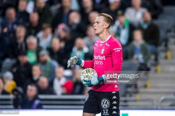 Pontus Dahlberg goalkeeper of IFK Goteborg during the Allsvenskan match between Hammarby IF and IFK Goteborg at Tele2 Arena on September 20 2017 in...