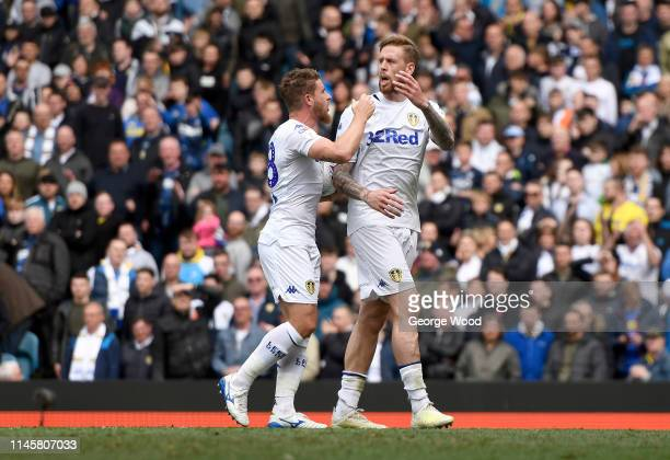 Pontus Jansson and Gaetano Berardi of Leeds United show their frustration during the Sky Bet Championship match between Leeds United and Aston Villa...
