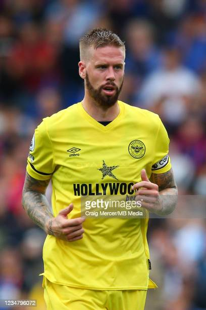 Pontus Jansson of Brentford during the Premier League match between Crystal Palace and Brentford at Selhurst Park on August 21, 2021 in London,...