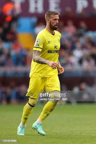 Pontus Jansson of Brentford during the Premier League match between Aston Villa and Brentford at Villa Park on August 28, 2021 in Birmingham, England.