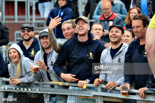 Pontus Jansson of Leeds Unites FC during the Allsvenskan match between Jonkopings Sodra IF and Malmo FF at Stadsparksvallen on June 3 2017 in...