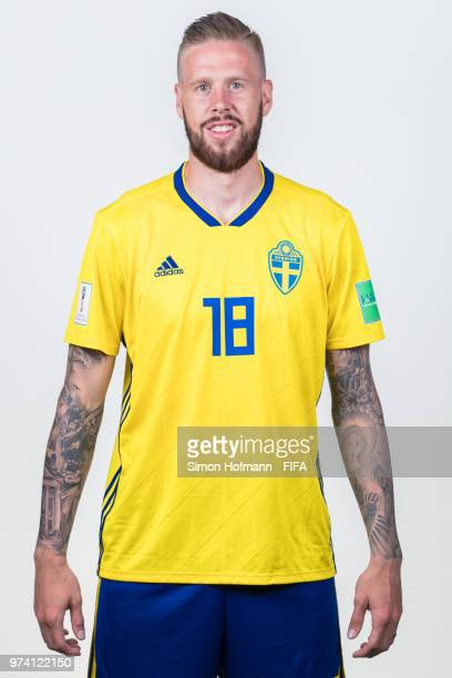 Pontus Jansson of Sweden poses during the official FIFA World Cup 2018 portrait session on June 13 2018 in Gelendzhik Russia