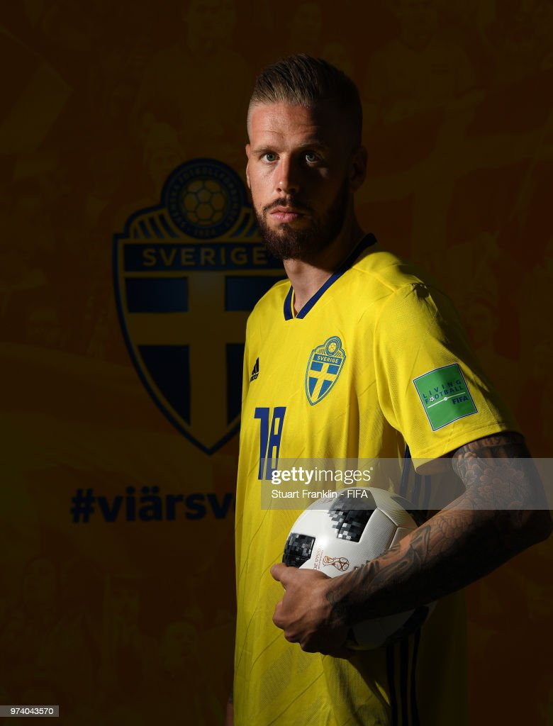 Pontus Jansson of Sweden poses for a picture during the official FIFA World Cup 2018 portrait session at on June 13, 2018 in Gelendzhik, Russia.