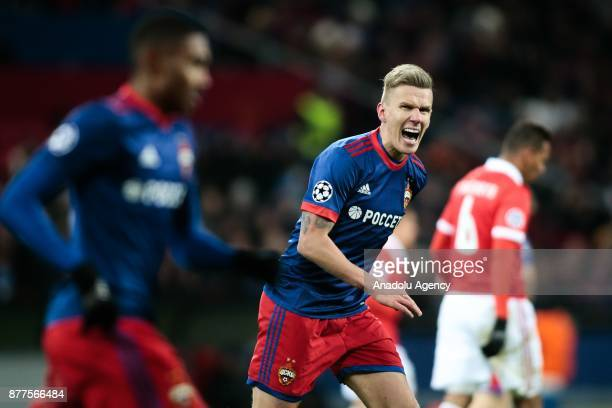 Pontus Wernbloom of CSKA Moscow in action during the UEFA Champions League Group A soccer match between CSKA Moscow and Benfica at VEB Arena in...