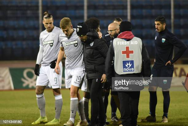 Pontus Wernbloom suffered a Cruciate Ligament Rupture and will stay out of the action for several months during Greece Super League Football match...
