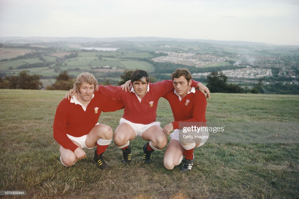 Wales Front Row Graham Price Bobby Windsor and Charlie Faulkner 1978 : News Photo