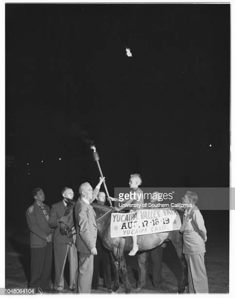 Pony Express' ride to Yucaipa 18 August 1951 Medrick McMastersRalph DavenportMcIntyre FariesAmos 'Buddy' Palmer 8 yearsAF LundPaul AthertonCaption...