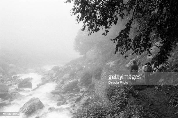 Pony path along Pushpawati river Valley of Flowers, Garhwal, Uttarakhand, India, Asia, 1978
