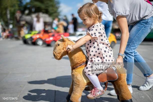 ponny rida - pony play bildbanksfoton och bilder
