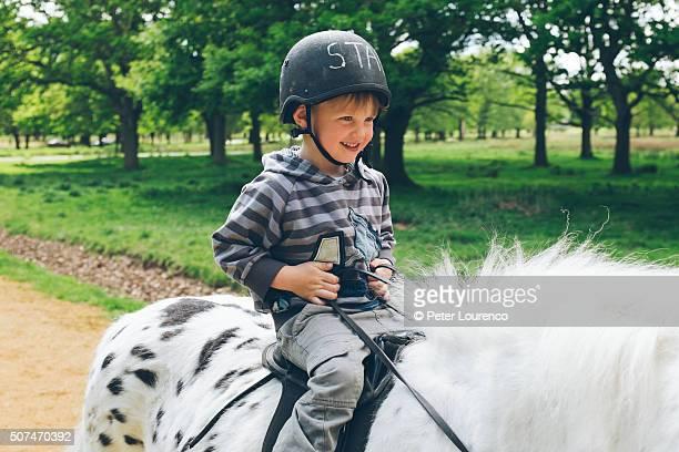 pony ride - peter lourenco stockfoto's en -beelden