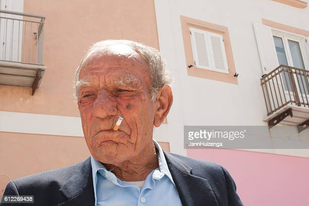 Ponza, Italy: Retired Sailor, Close-Up Portrait