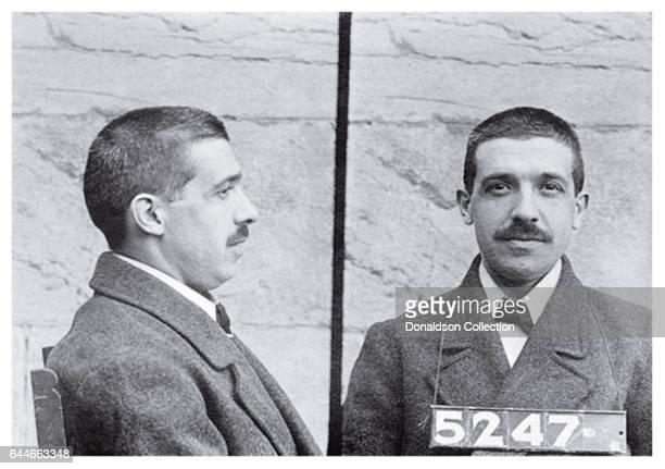 Ponzi scheme inventor Charles Ponzi mugshot in 1920