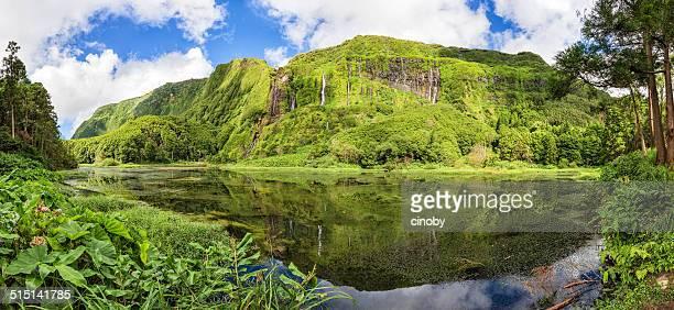 poço da alagoinha-isla de flores-azores (portugal) - azores fotografías e imágenes de stock