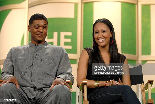 """Pooch Hal and Tia Mowry of """"The Game"""" during The CW Summer 2006 TCA Press Tour at Ritz Carlton in Pasadena, CA, United States."""