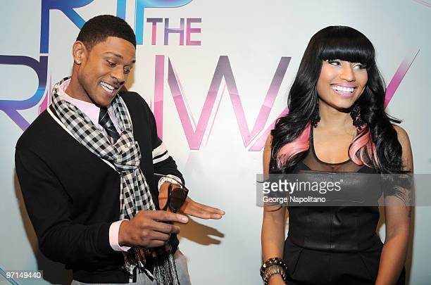 Pooch Hall and Nicki Minaj attend BET's Rip The Runway 2010 at the Hammerstein Ballroom on February 27 2010 in New York City