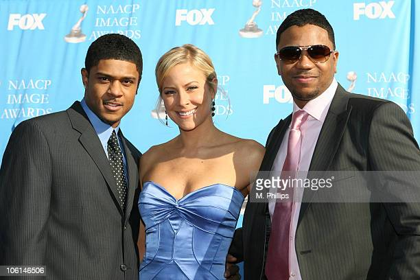 Pooch Hall Brittany Daniel and Hosea Chanchez during 38th Annual NAACP Image Awards Arrivals at Shrine Auditorium in Los Angeles California United...