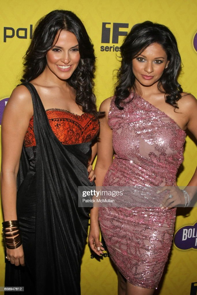 Pooja Kumar and Neha Dhupia attend New York Premiere of IFC`s BOLLYWOOD HERO at The Rubin Museum of Art on August 4 2009 in New York